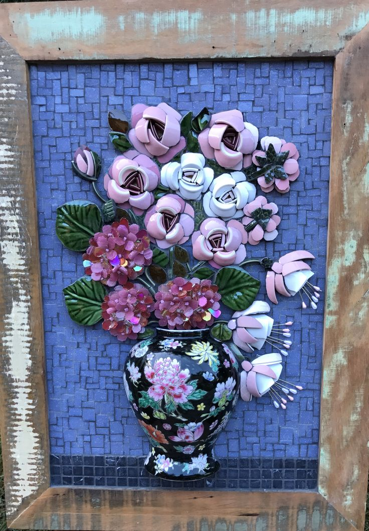 Flores Mosaico Picassiette by Andrea Olighon