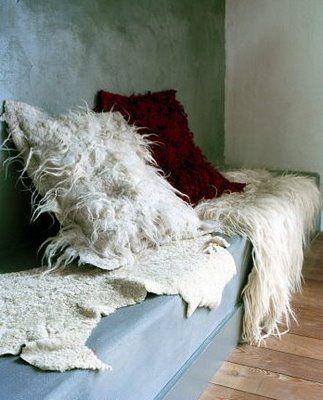 #winter #felt pillowcases