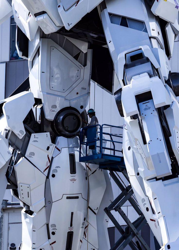 The Life-Sized Unicorn Gundam Statue: Work In Progress (Update 2nd September 2017) No.9 NEW Images, credits http://www.gunjap.net/site/?p=325853