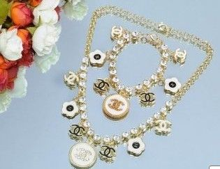 beautiful Chanel Necklace and Bracelets$27.99 on http://www.btoctrade.net
