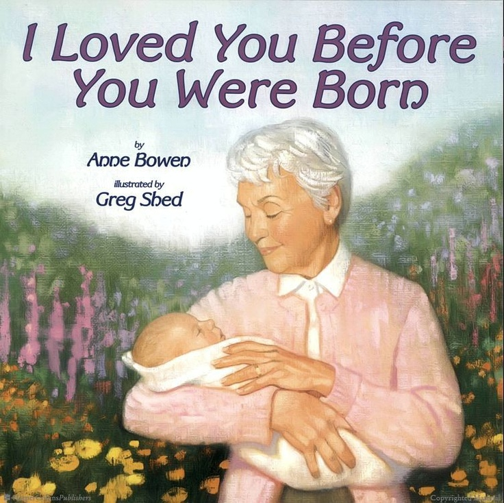 I Loved You Before You Were Born  By Anne Bowen and illustrated by Greg Shed