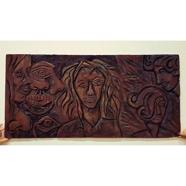 """🗿 . """" 125*60 cm """" . . . #strafor #strafordekor #straforkesim #art #artofinstagram #artgallery #arts #artofdrawingg #artstudio #artlovers #artoftheday #atölye #çizim #dekoratif #dekorasyonfikirleri #çizim #istanbul #istanbulart #meril #merilinatölyesi"""