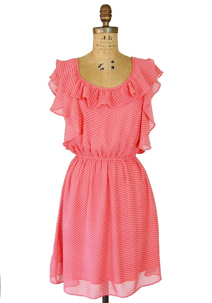 Love this dress!: Polka Dots, Coral Colors, Cute Dresses, Coral Beautiful, Dots Coral, Beautiful Dresses, Coral Colour, Cute Summer Dresses, Coral Dresses
