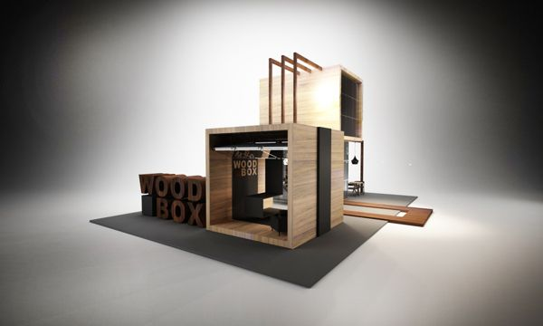 Exhibition Stand Wood : Design of exhibition stand for quot wood box on behance