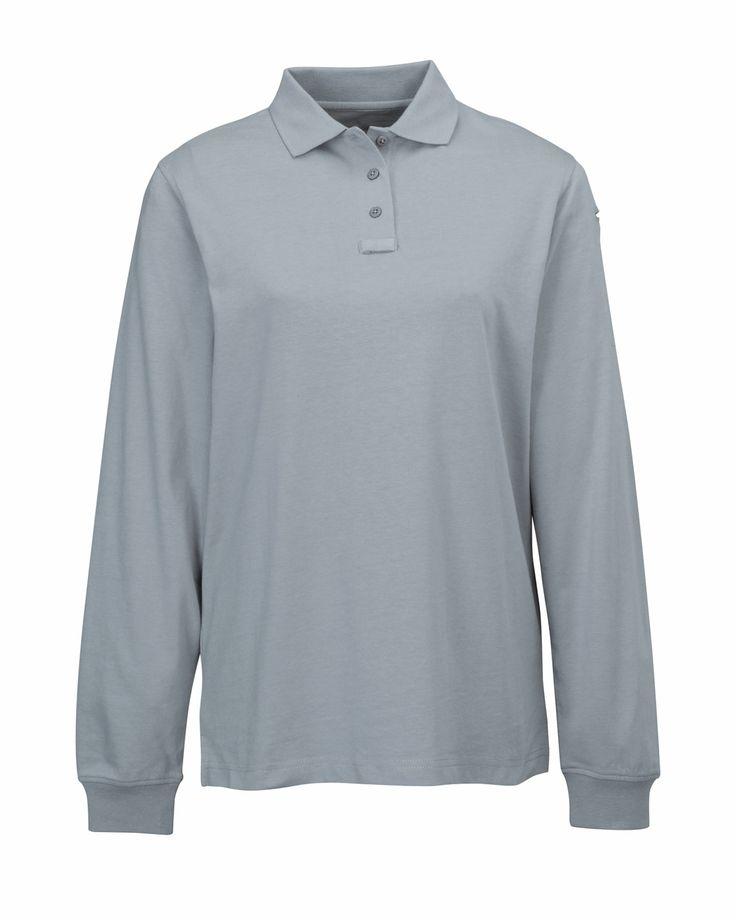 Womens Cotton Polyester Knit Ls Polo Shirt. Tri mountain 611 #polyester #poloShirt  #cotton #Womenswear #Women #stylish