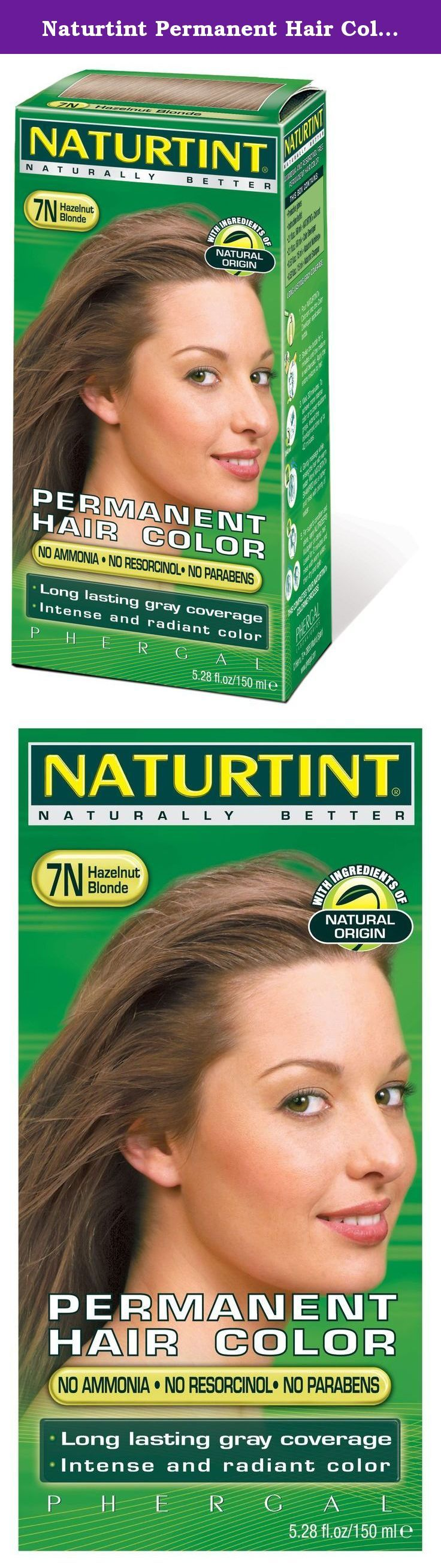 Naturtint Permanent Hair Color - 7N Hazelnut Blonde, 5.28 fl oz (6-pack). Naturtint® is the first permanent hair color, free of harsh chemicals, that provides both beautiful, radiant color and is healthy for your hair! Combining natural activators that nourish your hair and micro-pigments that provide a more intense color, Naturtint even covers gray completely in one application, while restoring softness, shine and vitality. Naturtint is available in 29 mixable shades, and each package...
