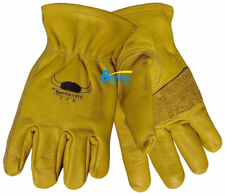 134.80$  Watch now - http://alinp9.shopchina.info/go.php?t=1449017714 - Leather Work Glove Leather Mech Safety Glove TIG MIG Glove Grain Calfskin Comfoflex Leather Welding Glove 134.80$ #magazine