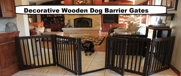 Wooden Indoor Dog Gates Attractive and Width Adjustable – OfficialDogHouse