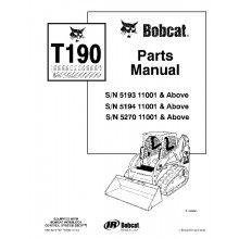 Bobcat T190 Turbo Tracked Skid Steer Loader Parts Manual PDF