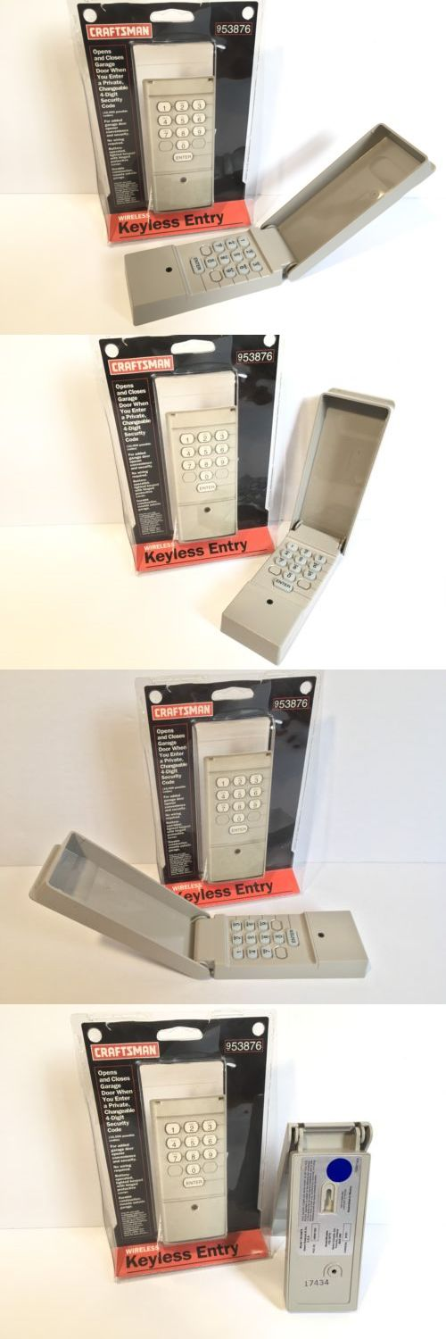Garage Door Remotes 85899: Craftsman 139.53876 Keypad Garage Door Opener Wireless Keyless Entry Control -> BUY IT NOW ONLY: $39.74 on eBay!
