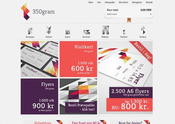 350gram Website Design