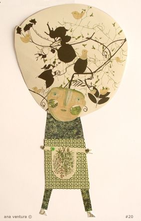 scrap of paper doll #20 by ana ventura, via Flickr