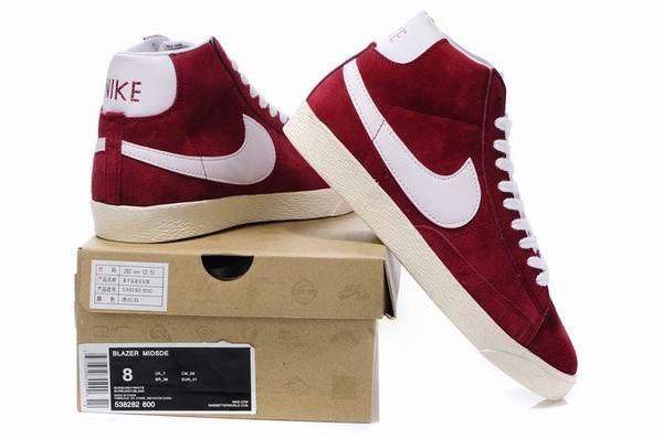 023zpTA5 Crimson Nike Blazer Mid Premium Suede 2013 Unisex Anti Fur Shoes