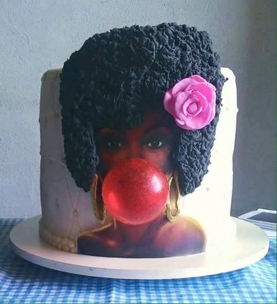Afro Hair Cake Ideas
