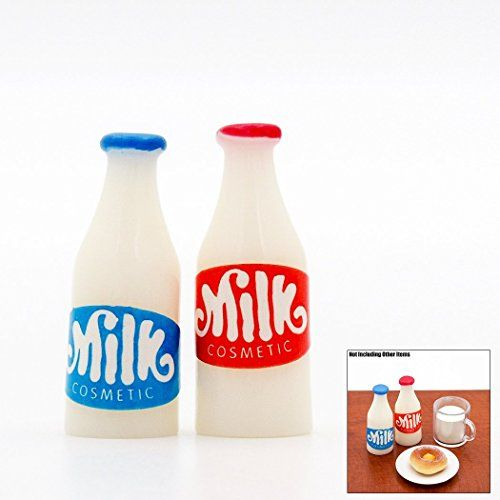 Dollhouse Décor - Odoria 112 Miniature Food 2PCS Milk Bottles Breakfast Dollhouse Kitchen Accessories * Click on the image for additional details.