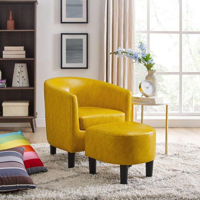 Lucea Barrel Chair And Ottoman Bedroom Furniture For Sale Barrel Chair Side Chairs