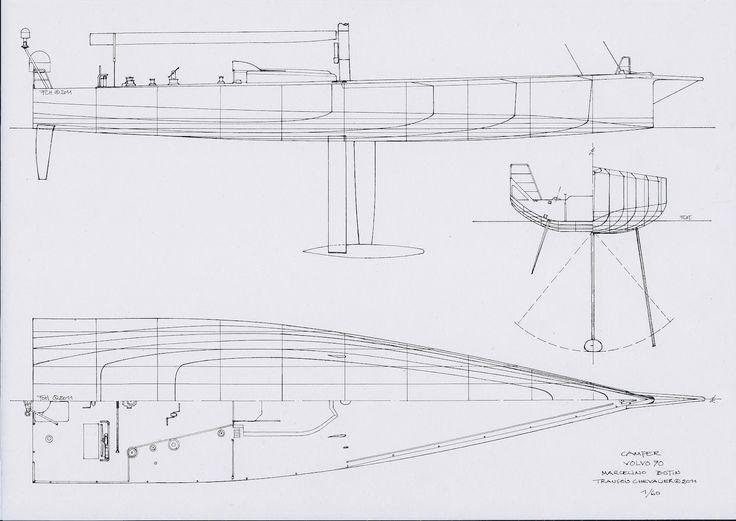 Art Line Yacht Design : Chevalier taglang volvo ocean race yacht drawings