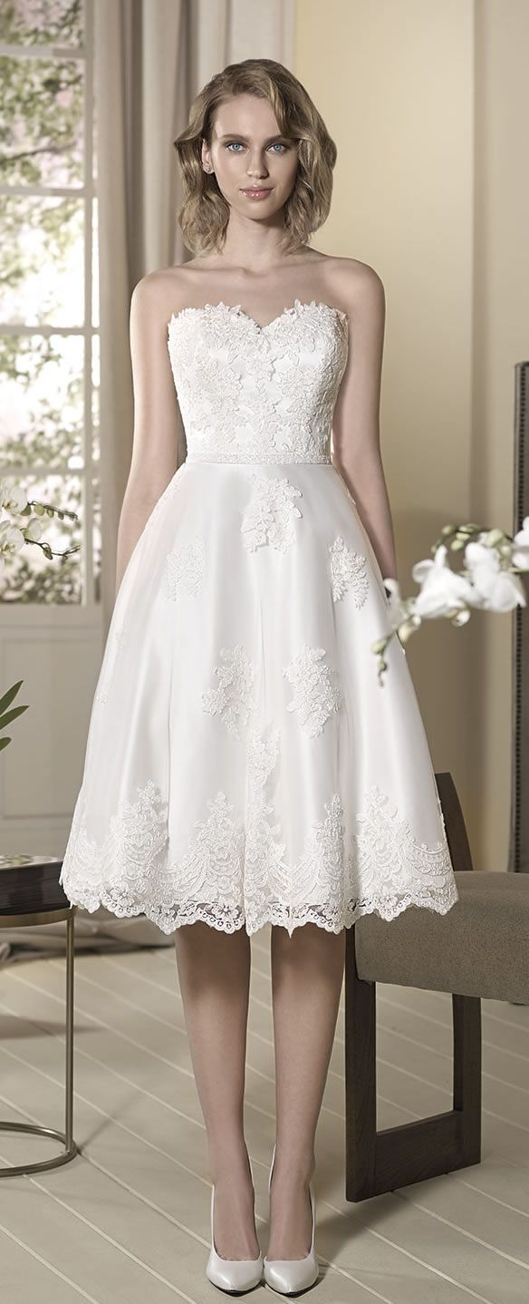 Fabulous Cabotine Knee Length Wedding Dress