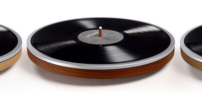 Move over Bang & Olufsen: The Wheel, by Dutch company Miniot, is turntable design at its simplest and most lovely.