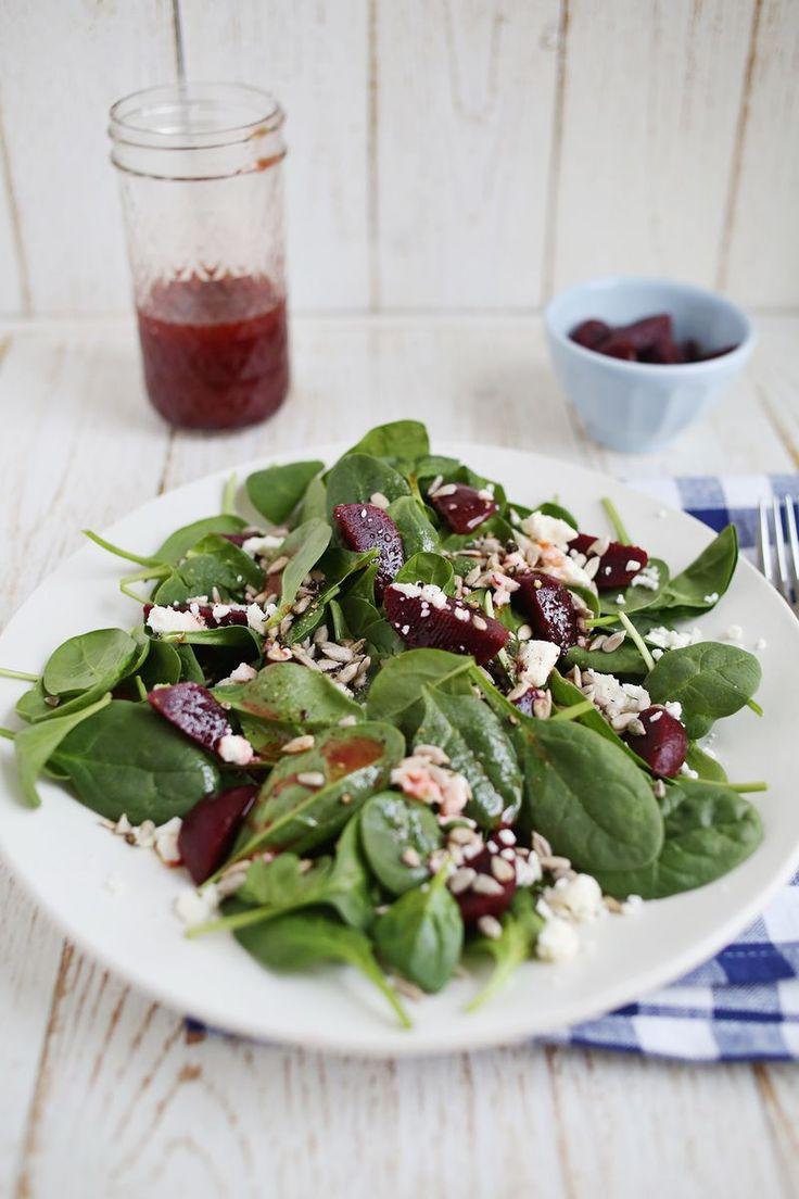 Pickled beet vinaigerette salad