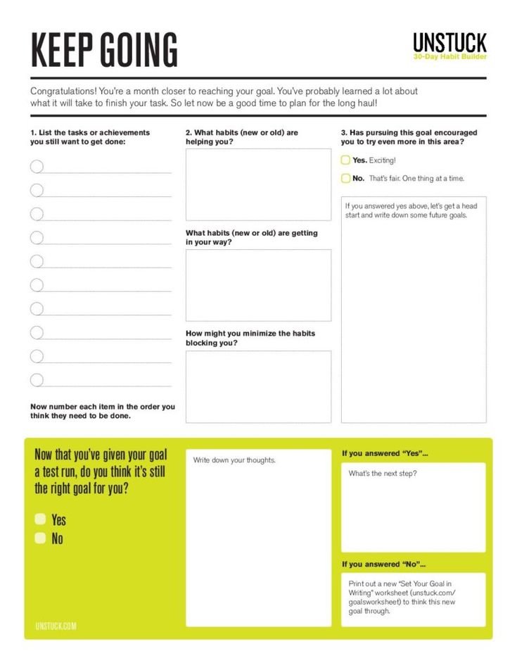 Step 13: Keep momentum going with this goal assessment worksheet