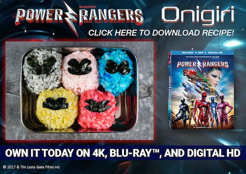 Celebrate Saban's Power Rangers out now on Digital HD, DVD and On Demand by creating a Power Rangers inspired Onigiri. Power Rangers Summer Activity Sheets
