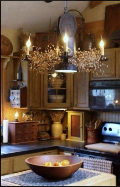 Gorgeous Vintage Kitchen #PrimitiveCountryDecorating