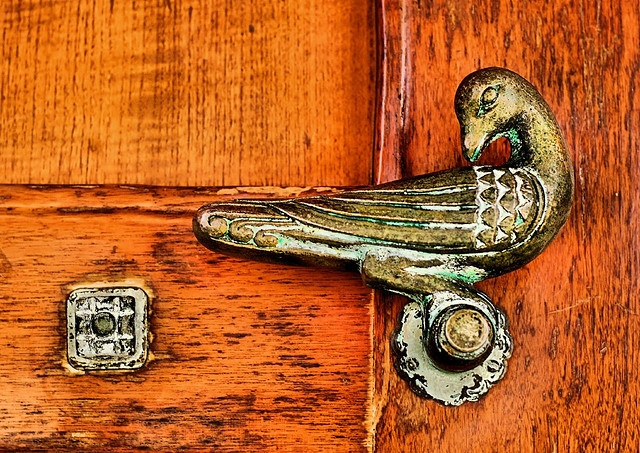 By Gwyn Michael. bird shaped door hardware