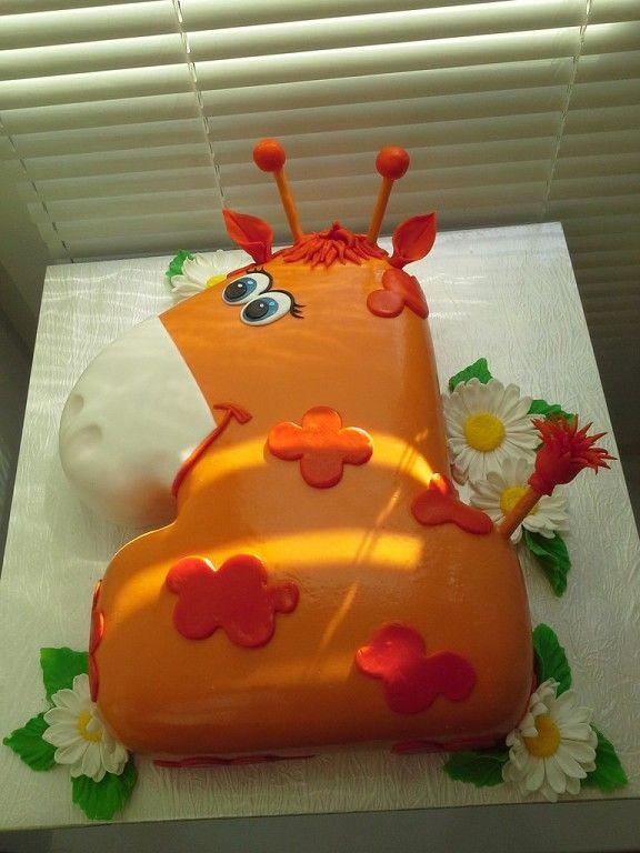 Торт детский на годик, Единичка-Жирафик