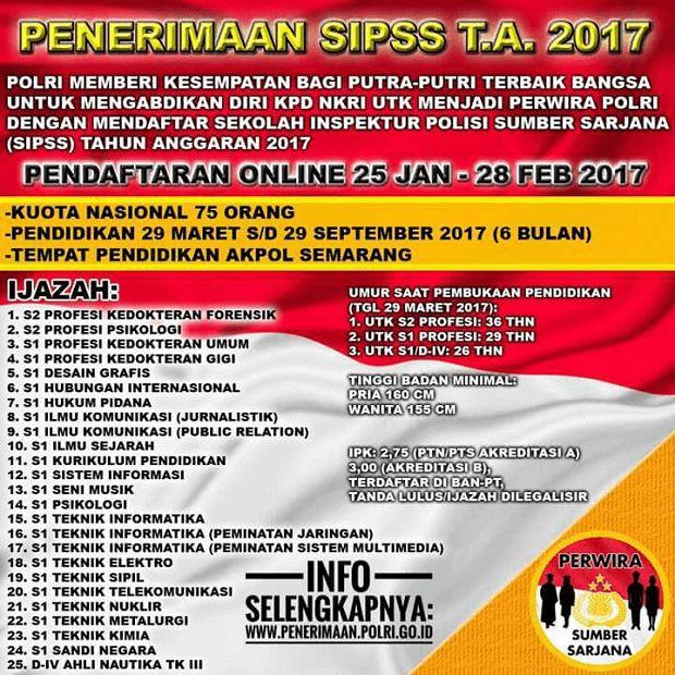 Penerimaan SIPSS T.A. 2017
