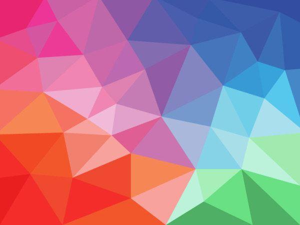 Free Colorful Geometric Wallpaper: Flat Gradient Geometric Background Vector