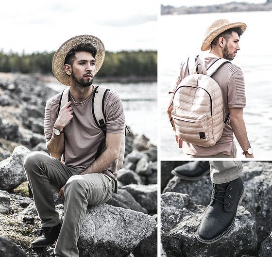 Get this look: http://lb.nu/look/8705923  More looks by Bobby Raffin: http://lb.nu/bobbyraffin  Items in this look:  Bubba Bags Travel Backpack, Guess Jence Shoes   #casual #dapper #minimal #travel #menswear #onthego #neutral