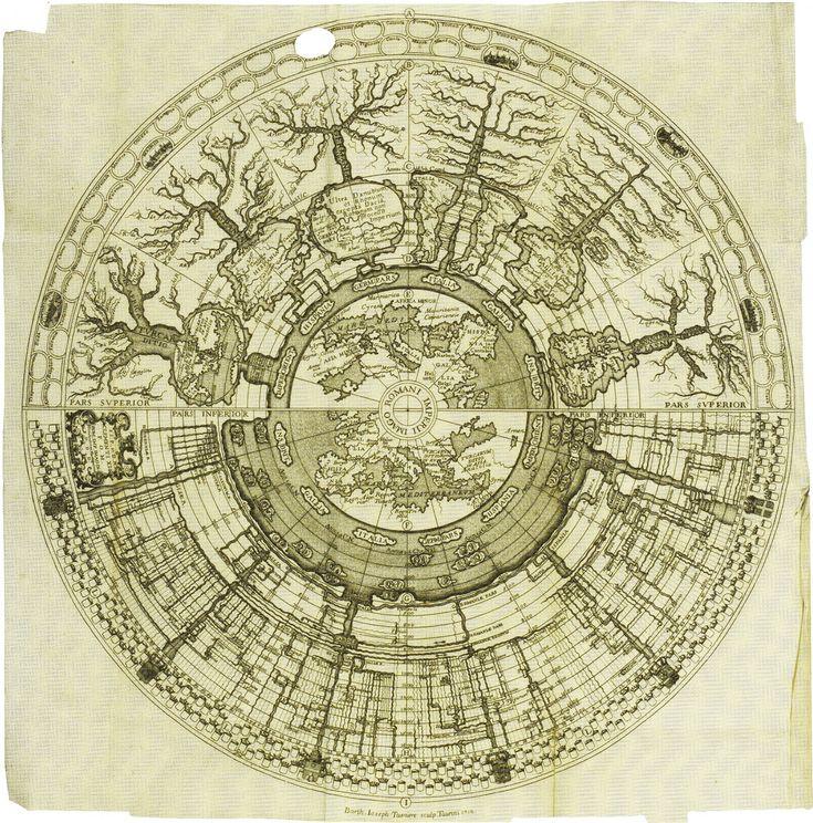 Spiegazione della Carta Istorica dell'Italia: Time represented as landscape.