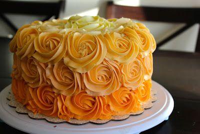 Orange Ombre Rose Cake Inspired By Amanda Rettke And Her