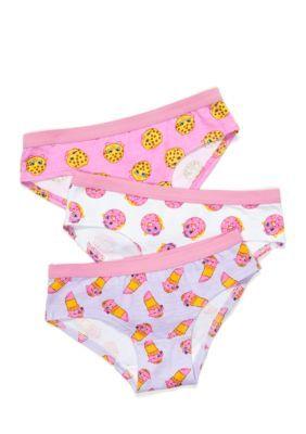 Shopkins  Assorted 3-Pack Hipsters Underwear Girls 4-16