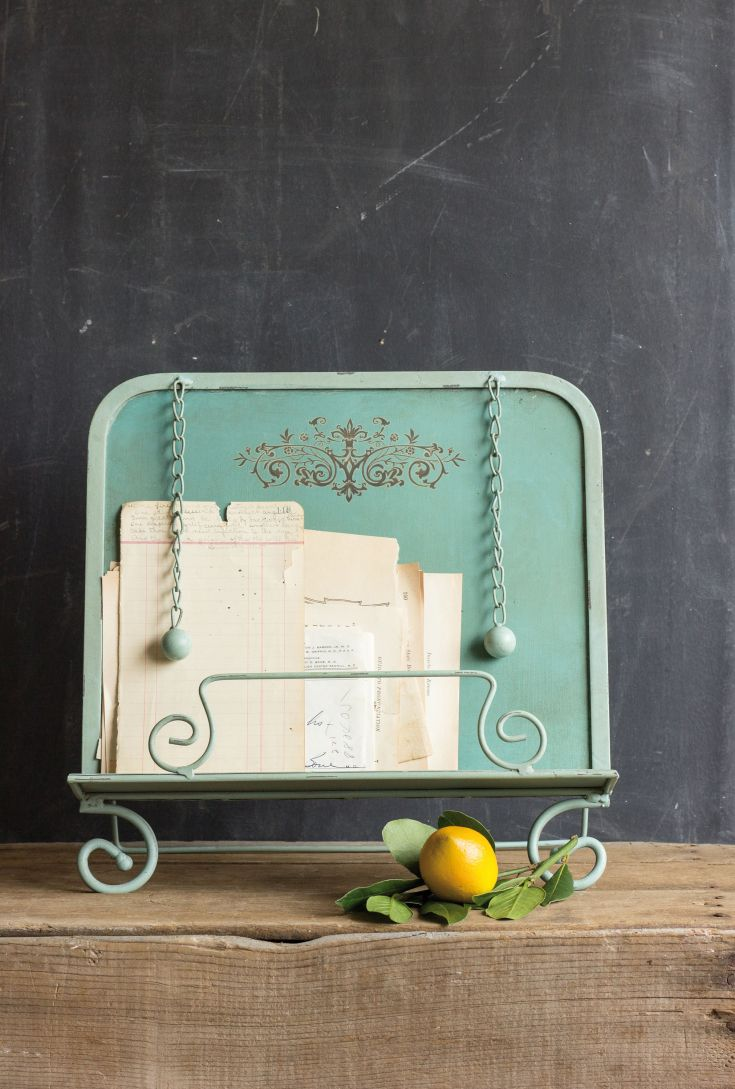 Turquoise cookbook holder from Fixer Upper show $40
