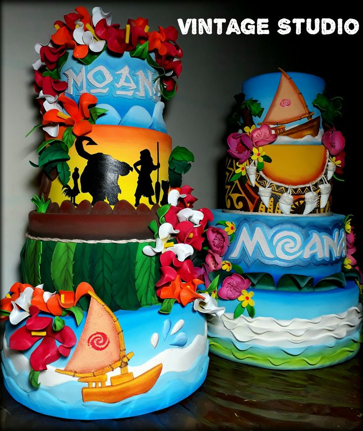243 Best Moana Cakes Images On Pinterest Anniversary Cakes