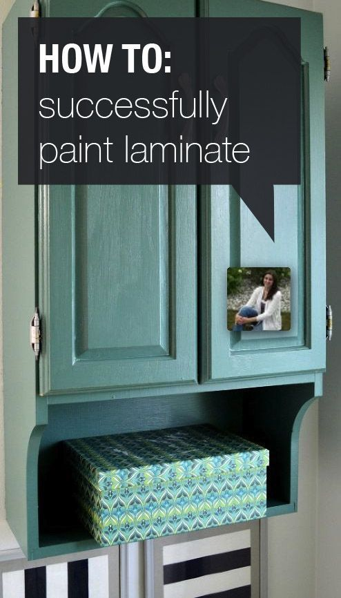 Yes, you CAN paint laminate!                                                                                                                                                                                 More