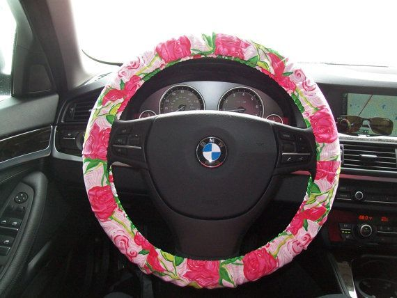 lily pultizer steering wheel cover