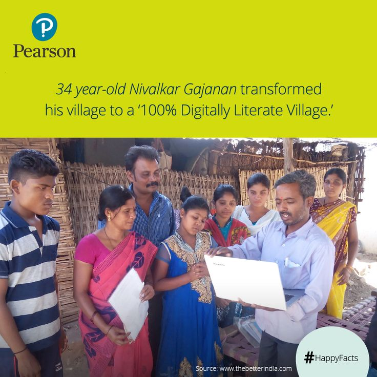 Nivalkar Gajanan, previously a farm laborer not only transformed his life by learning to use a Personal Computer but also helped his village Akoli. He started a computer literacy programme reaching villages across Telangana. ‪#‎HappyFacts‬