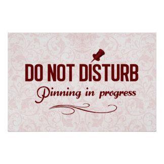 Do not disturb. Pinning in progress Print
