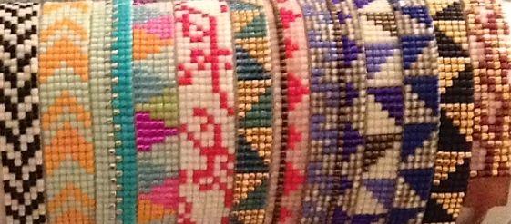 Julies smukke vævede armbånd - Julie's beautiful woven bracelets