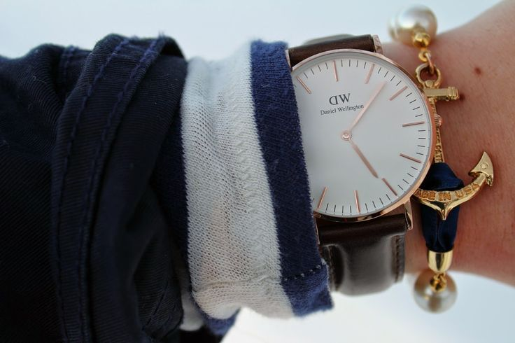 "Pompom and Orange Poppy ( Use code ""belleoftheball"" for 15% off on www.danielwellington.com until February 28th! )"