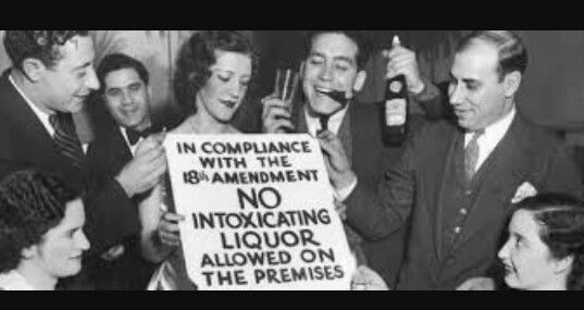 The alcohol prohibition during the 1920's