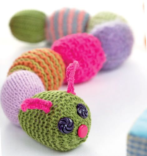 These three playtime knits from Lucinda Ganderton will encourage the beginner, and are still fun for more experienced knitters to make and give