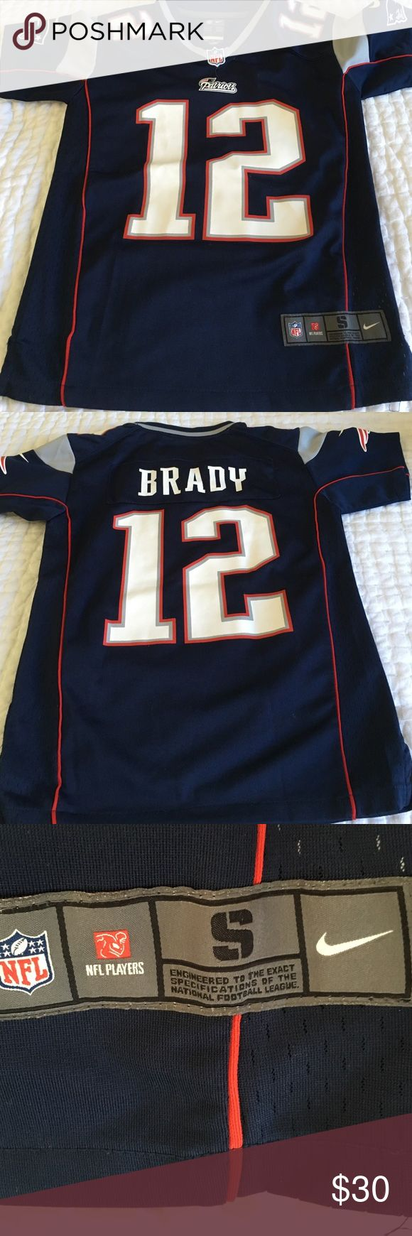 Tom Brady authentic Nike nfl youth jersey Navy blue Tom Brady nfl Nike authentic jersey youth size small fits 8-10. Nike Shirts & Tops