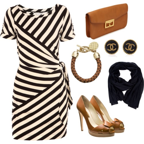 love it!: Fashion, Style, Clothes, Dresses, The Dress, Work Outfits, Wrap Dress, Stripes