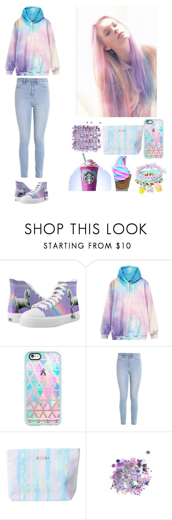 """Rainbow Outfit"" by aspiringdesigner ❤ liked on Polyvore featuring Casetify, Hollister Co. and The Gypsy Shrine"
