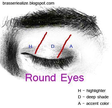 Eye Makeup: Basic makeup for round eyes #makeup