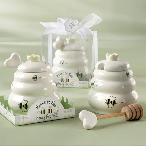 "Mini Honey Pot Favors for bridal shower? ""Meant to Bee"" theme?"